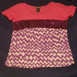 Patterned and Sequened Shirt
